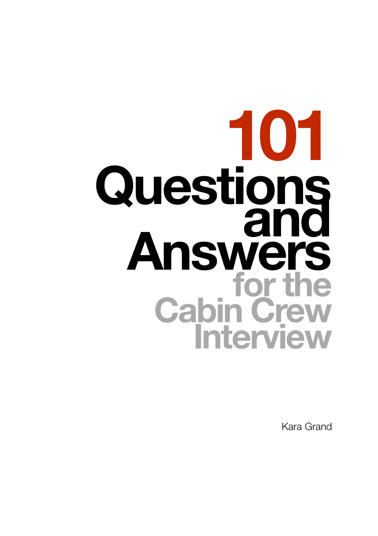 25 questions and answers for the cabin crew interview 101qa cover