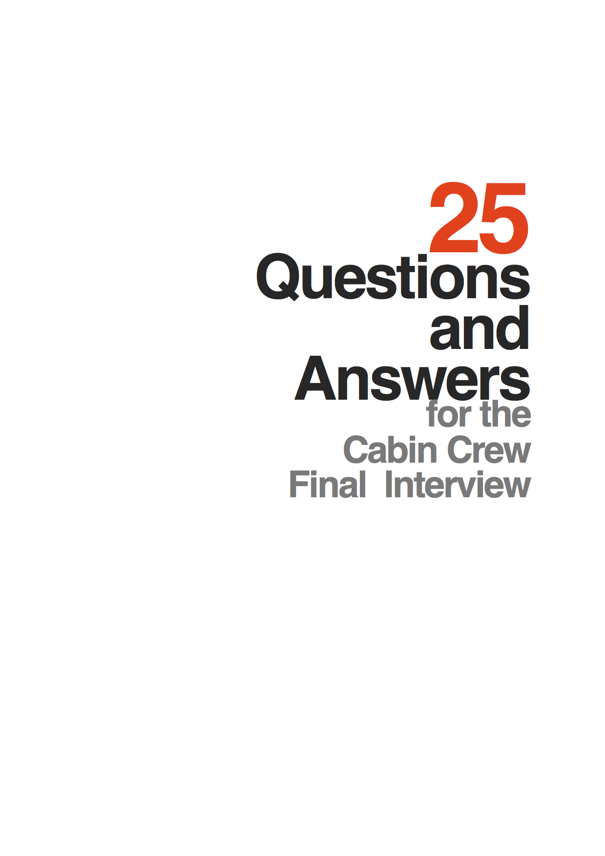 25 questions and answers for the cabin crew interview 25 qa cover